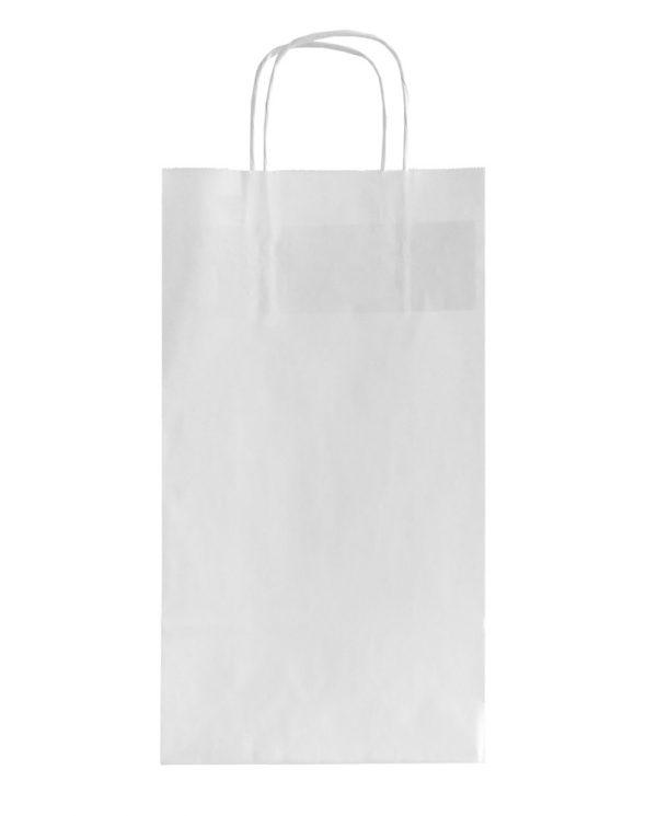 Χάρτινη τσάντα στριφτής λαβής (Λευκό kraft) 18+8/33 εκ. (κιβώτιο 500 τμχ)