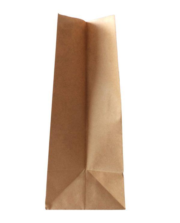 Χάρτινη τσάντα με λαβή χούφτα (Kαφέ kraft) 21+12/27,5 εκ. (κιβώτιο 750 τμχ)